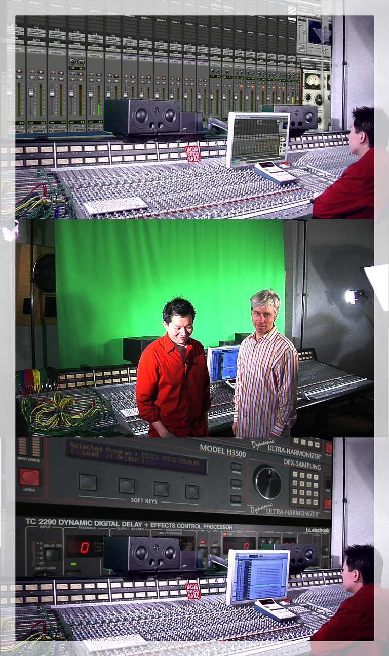 Producer Jon Kagi with Multi Grammy-winner Phil Tan on the set of Inside The Mix.